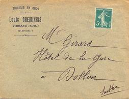 ÉPICERIE EN GROS LOUIS CHEMINAIS VIBRAYE SARTHE - Postmark Collection (Covers)