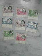 Postzegels Belgisch Congo 329/36  Ongetand + Plaatnummer - Belgian Congo
