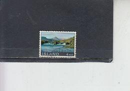 ISLANDA  1970 - Unificato 388° - Turismo - 1944-... Repubblica