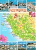 CARTES GÉOGRAPHIQUES - ( 85 ) LA VENDÉE - 8 PETITES VUES - CPM - VIERGE - - Cartes Géographiques