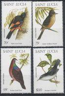 MDB-BK8-141 MINT ¤ ST LUCIA 1998 4w In Serie ¤ - OISEAUX - BIRDS - PAJAROS - VOGELS - VÖGEL - Pájaros Cantores (Passeri)