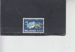 ISLANDA  1970 - Unificato  402° - Nazioni .Unite. - 1944-... Repubblica