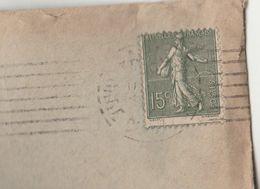Yvert 130 Piquage à Cheval Semeuse Lignée Lettre Facture Maurisset Cachet Flamme PARIS GARE AUSTERLITZ 1919  à Albas Lot - Postmark Collection (Covers)