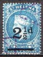 St. Helena Used Queen Victoria Stamp - Isola Di Sant'Elena