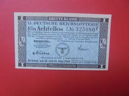 3eme REICH-LOTERIE DU 13-14 JUNI 1944 (B.17) - [ 4] 1933-1945: Derde Rijk