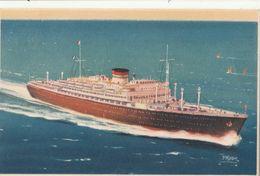 Cartolina - Postcard /  Viaggiata - Sent /  M/N Neptunia - Cosulich - Paquebote