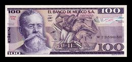 México 100 Pesos 1982 Pick 74c Serie VE SC UNC - Mexique