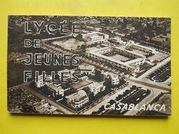 Casablanca ,lycée De Jeunes Filles ,carnet De 20 Cp - Casablanca