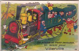 VILLERVILLE CARTE SYSTEME TRAIN 10 VUES - Villerville