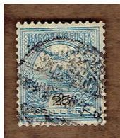 HONGRIE.  (Y&T) 1900-04. .n°47    * Chiffres Noirs *    25fi*  Obli - Used Stamps