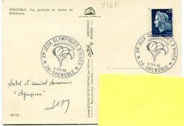 Bureau Temporaire Grenoble - Inauguration Jeux Olympiques - Février 1968 - Y 161 - Marcofilie (Brieven)