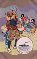 Japon, Publicité, Nippon Yusen Kaisha S.S. KUMANO MARU Danses Et Tambour Par Illustrateur (490) - Steamers