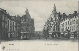 Anvers.   -   La Nouvelle Rue Leys.   -   1900   -   TRAM - Antwerpen
