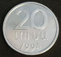 ARMENIE - ARMENIA - 20 LUMAS 1994 - KM 52 - Armenien
