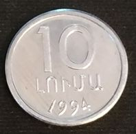 ARMENIE - ARMENIA - 10 LUMAS 1994 - KM 51 - Armenien