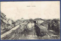 CPA AIN (01) - CULOZ - LA GARE - TRAINS - Otros Municipios