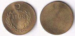 AC - 1963 BACKGAMMON TAX CHIP TOKEN - JETON TURKEY - Tokens & Medals