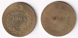 AC - 1964 BACKGAMMON TAX CHIP TOKEN - JETON TURKEY - Tokens & Medals