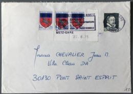 France - Vignette Experimentale B. PALISSY Sur Enveloppe - 1975 - (B2032) - Marcofilia (sobres)