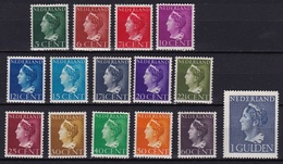 1940-47 Koningin Wilhelmina Complete Postfrisse Serie + 1 Gld NVPH 332 / 345-346 - Unused Stamps