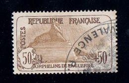 France YT 153 Orphelins De Guerre Oblitéré Trés Bien Centré ( + 25% ) Selon Yvert 2011 Cote 225€ - Used Stamps