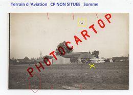 CP NON SITUEE-Terrain D'AVIATION All.-FLIEGEREI-CARTE PHOTO Allemande-GUERRE 14-18-1 WK-FRANCE-80-60-02-62-Militaria- - War 1914-18