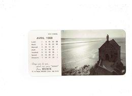 Grand Calendrier Avril 1968 - Publicité Serrure RUBIS Rue Danjou BOULOGNE SUR SEINE - Mont St Michel - Buvard Au Dos - Calendari