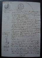 Tonneins 13 Mars 1820 Lot-et-Garonne Reconnaissance Pour Jean Larrieu à Marie Caparouyat ( ?) Son épouse - Manuscripts