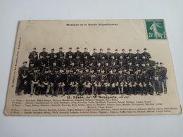 Ancienne Carte Postale Cpa Musique De La Garde Républicaine Parès Bourgeois 1910 - Regimente