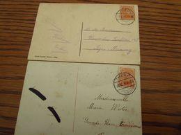 Belgique 18-19: 1 Carte Fantaisie + 1 Carte Vue De Spa Oblitérées De THEUX (cachet à Pont En 1918) Et Idem Cachet GRATTE - Postmark Collection