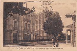 BEAULIEU SUR MER  (06) Un Coin élégant Du Boulevard Maréchal Pétain (Hôtel Bristol Et Son Casino / Tableaux /Patisserie) - Beaulieu-sur-Mer