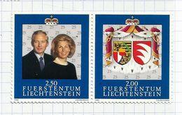 Liechtenstein N°980, 981neufs** Se Tenant Cote 7 Euros - Neufs