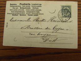 Carte Fantaisie Oblitérée Du RELAIS De NEERLINTER En 1904 (cote C) - Postmark Collection