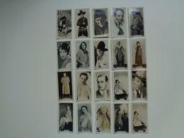 Chromo ( 1373 ) Lot De 20 Chromos Ciné Cinéma Stars Artiste Acteur - Cigarette Card  Cigarettes Cards - Zigaretten