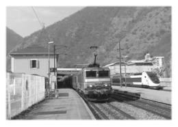 MOÛTIERS - TER Et TGV Desservant La Gare - Moutiers