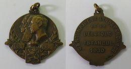 AC - CENTENAIRE DE L'INDEPENDENCE DE LA BELQIQUE ISTANBUL 1930 BELGIUM 1830 - 1930 100 YEARS OF INDEPENDENCE MEDALLION - Royaux / De Noblesse