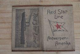 Red Star Line Original Docu Pochet In Linen Linnen Pochet Voor Docu Zeldzaam - Documentos Históricos