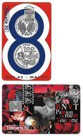 L28e) 2 Télécartes (50) France 1995 - Francia