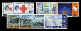 1963, Gilbert Und Ellice Inseln, 75-76 U.a., ** - Sellos