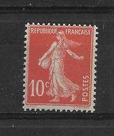 FRANCE    N° 138    NEUF SANS CHARNIERE - 1906-38 Semeuse Con Cameo