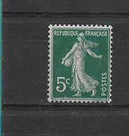 FRANCE    N° 137    NEUF SANS CHARNIERE - 1906-38 Semeuse Con Cameo