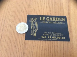 AUTOCOLLANT, Sticker «LE GARDEN DISCOTHÈQUE - LE TOUQUET (62)» - Adesivi