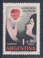 Argentina 1958 Mi 691 YT 594 Sc B18 SG 938 ** Receiving Blood - Leukemia Relief Campaign / Blutspende - Leukämie - Disease