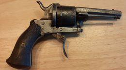 """Ancien Revolver à Broche, Système """"Lefaucheux"""" / Antique Belgian Pinfire Revolver - Armes Neutralisées"""