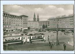 V498/ Ludwigshafen Jubiläumsplatz Straßenbahn AK Ca.1960 - Deutschland