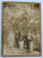 Rare Grande Photographie 1911 Gèdre Gavarnie Statue Comte Henry Russell LEROUX Gaston Veuvenot Militaire Dastugue Tarbes - Orte