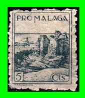 BENEFICENCIA MUNICIPAL - PRO MALAGA - 5 CTS - CORREOS - Impuestos De Guerra