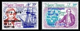 POLYNESIE 1979 - Yv. PA 142 Et 143 ** SUP Cote= 7,00 EUR - James Cook, Iles Hawaii AVEC Surcharge (2 Val) .Réf.POL25195 - Aéreo
