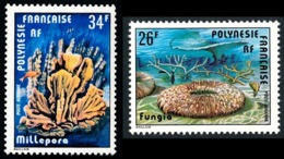 POLYNESIE 1978 - Yv. PA 138 Et 139 **   Cote= 4,60 EUR - Coraux Fungia Et Millepora (2 Val.)  ..Réf.POL25192 - Poste Aérienne