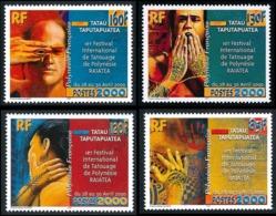 POLYNESIE 2000 - Yv. 614 à 617 ** TB  Faciale= 4,16 EUR - Festival De Tatouages (4 Val.)  ..Réf.POL25267 - Polinesia Francesa